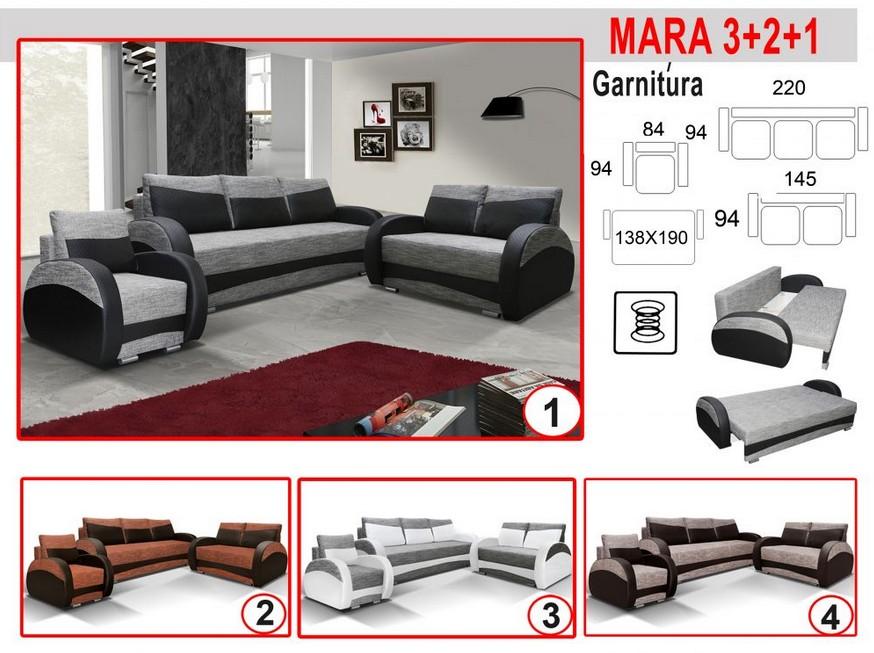 MARA 3-2-1 Ágyazható Bonelrugós Ülőgarnitúra-Bútor, Robi Bútor ...