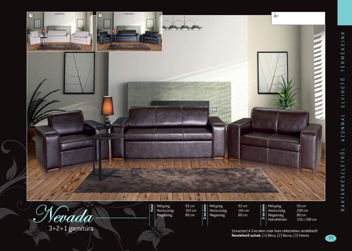 NEVADA 3-2-1 Ágyazható Ülőgarnitúra-Bútor, Robi Bútor ...